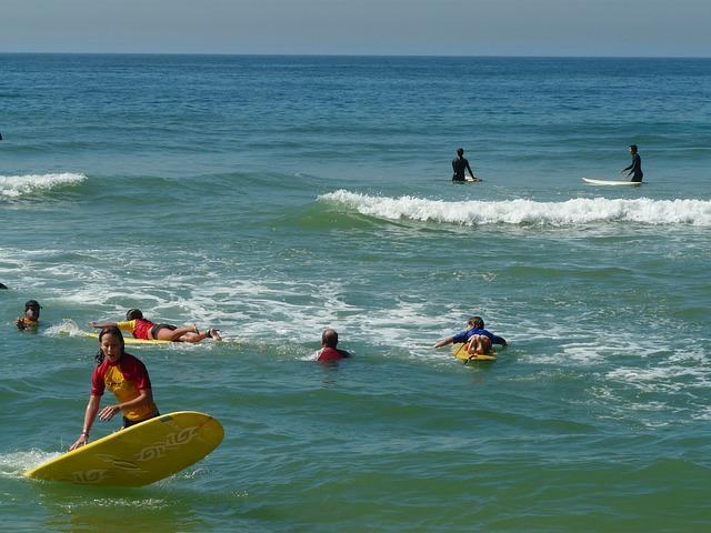 La pratique du surf en  mer  et océan pour tous