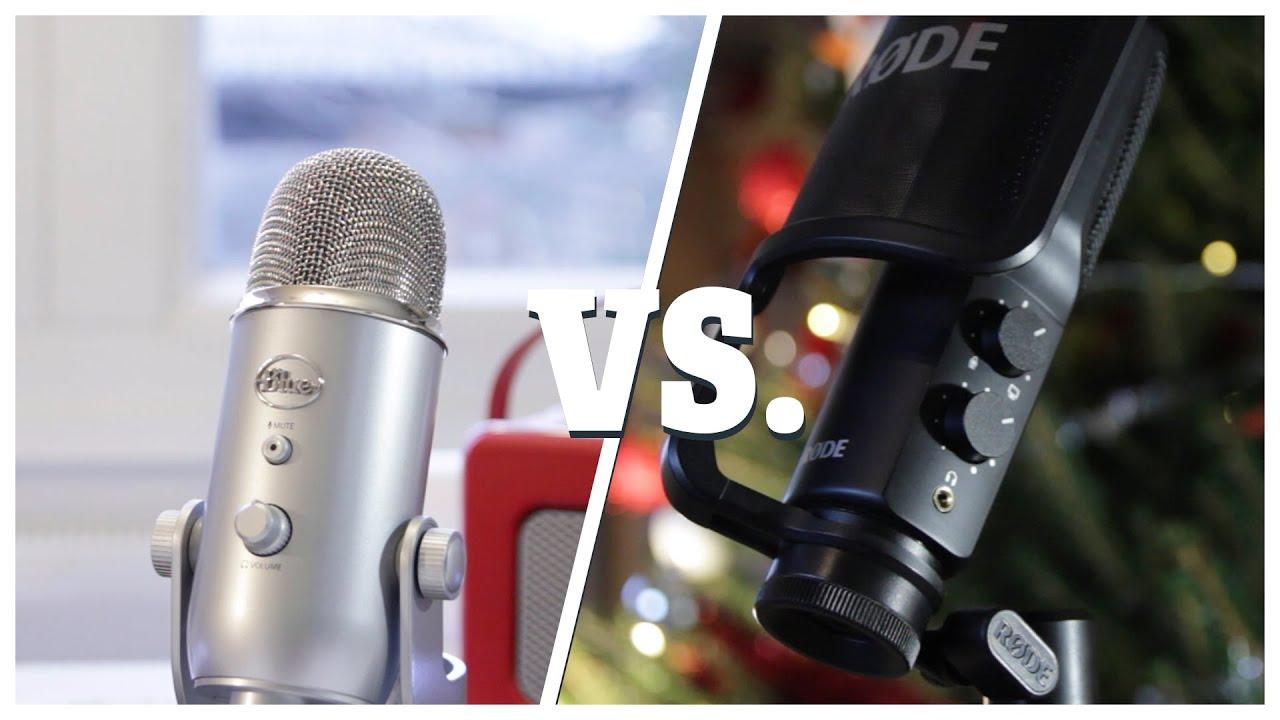 Que choisir entre lemicrophone usbRode nt-USB et Blue Yeti ?