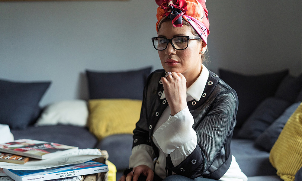 Linda Lousse, créatrice de caftans haute couture en France