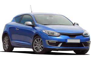 une voiture bleu